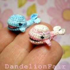 Little Sweethearts Whale Pair - Miniature Crocheted Plush Toys by DandelionFair for $32.50