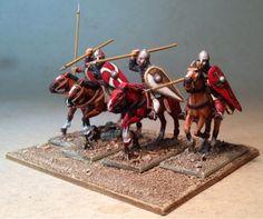 Wargames Figures of Steel Eel Studios: 18 x 28mm Perry Miniatures 1st Crusade European cavalry unit, Work in Progress