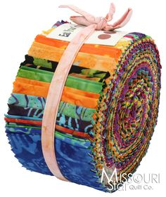 Eat Your Fruit Veggies Batiks Jelly Roll from Missouri Star Quilt Co