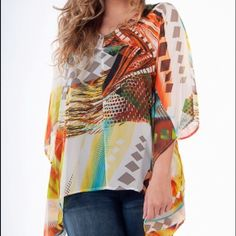 Gorgeous plus size top Built in tank beneath sheer layer Tops