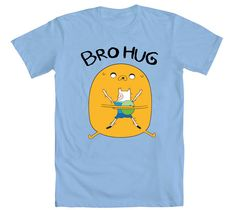 nothing like wearing a brohug in your chest all day long! Adventure Time Clothes, Cartoon Network, Bro, Comic Books, Fashion Outfits, My Style, Mens Tops, T Shirt, How To Wear