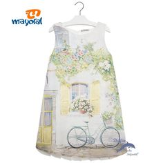 Vestido niña juvenil MAYORAL bicicleta