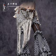 2016 Profissional de Dança Do Ventre Tribal Cinto Ajustável Cinto de Dança Do Ventre para Dança Cigana Borla Triângulo Lenço de Quadril em Dança do Ventre de Novidade e de uso especial no AliExpress.com   Alibaba Group