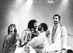 The Who  Photo Caption: The Who 1974 Roger Daltrey, John Entwistle, Keith Moon and Pete Townshend at Charlton Image id: the-who-74-071a          © Chris Walter/Photofeatures