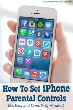 Do you want to keep your kids safe when they are using their iPhone (or yours)? Here is how to set iPhone parental controls. It's easy and only take a few minutes. Here is how to set iPhone parental controls. It's easy and only take a few minutes. Parental Control Apps, Parental Apps For Iphone, Kids And Parenting, Parenting Hacks, Foster Parenting, Parenting Articles, Parenting Quotes, Cell Phone Contract, Tecnologia