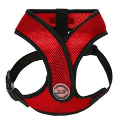 EXPAWLORER Choke Free Padded Dog Harness X Design Adjustable Soft Mesh Pet Vest  Red Medium >>> Details can be found by clicking on the image.Note:It is affiliate link to Amazon.