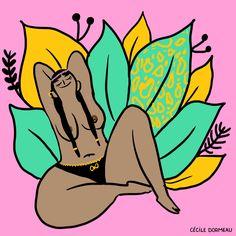 Ilustrações e gifs bem humorados mostram situações do universo feminino