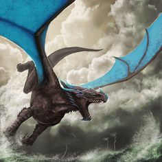 Stormglider Dragon by SarahJaneArt.deviantart.com on @deviantART