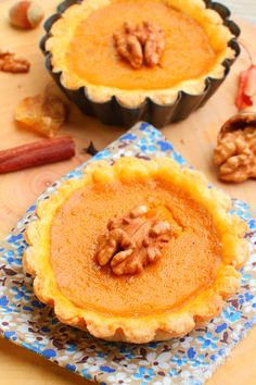 Mini Pumpkin Pie Tarts   Aside from being great for Thanksgiving, these would be wonderful for a tea party!