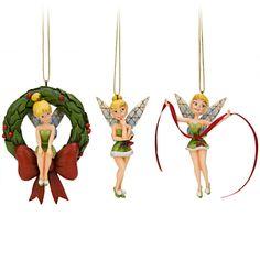 Tinker Bell Ornament Set by Jim Shore -- 3-Pc. - Item No. 302402P, $44.95 sale $34.99