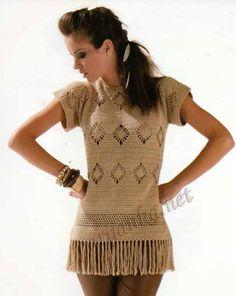 Graficos y Crochet: Blusa tabaco