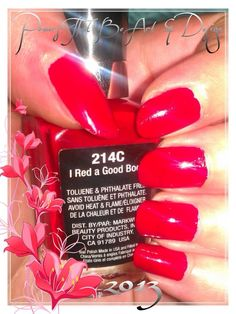 Powers That Be Art And Design, Nail Art, Done by hand, red nails