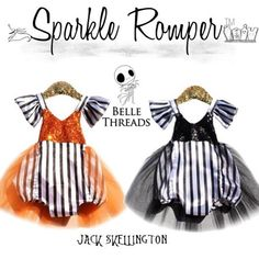 Loving our Halloween Glam Collection ✨ Order at bellethreads.com Jack Skellington Nightmare Before Christmas inspired baby costume #bellethreadspinterest