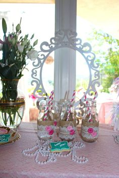 Vintage Shabby Chic Birthday Party decorations!  See more party ideas at CatchMyParty.com