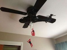 Helicopter Celing Fans - This Clever Ceiling Fan Design Depicts a Daring Helicopter Rescue (GALLERY)