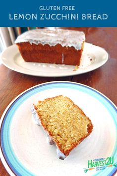 Gluten Free Lemon Zucchini Loaf is a loaded with fresh lemon and summer squash. Fruit Recipes, Cake Recipes, Dessert Recipes, Desserts, Healthy Cake, Easy Healthy Recipes, Healthy Food, Lemon Zucchini Loaf, Zucchini Cake