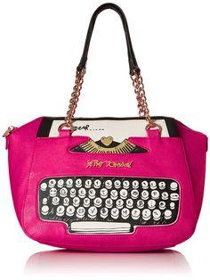 Betsey Johnson BJ50085 Top Handle Bag, Fuchsia, One Size