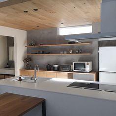 Home Decor Kitchen, Kitchen Interior, Home Kitchens, Kitchen Design, Japanese Kitchen, Japanese House, Handleless Kitchen, Japanese Interior Design, Stainless Kitchen