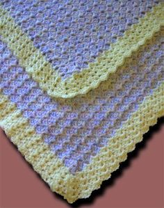 This is the sideways shell crochet blanket designed by Donna Laing for the Project Linus project.