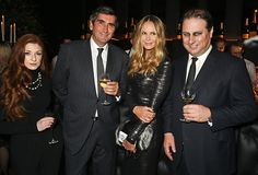 L to R Nicola Roberts Veuve Clicquot President JeanMarc Gallot Elle Macpherson and Jo Thornton attend the Veuve Clicquot Widow Series 'A Beautiful...