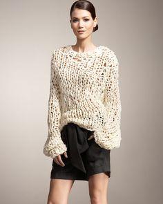 Fun slouchy sweater!