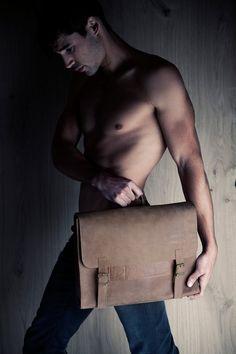 Men's retro satchel bag, brown briefcase, student backpack for men, School bag, leather bag, gift for him, laptop bag, messenger bag via Etsy