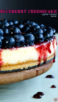Blueberry cheesecake is a great treat to celebrate summer. Make it with Greek yogurt for a lighter version.