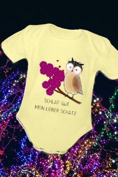 Kurzärmliger Baby-Body, 100% Baumwolle aus biologischem Anbau (Grau meliert: 85% Baumwolle aus biologischem Anbau, 15% Viskose), Marke: Spreadshirt ....#baby #kleidung #mode Bodysuit, Onesies, About Me Blog, Clothes, Design, Make Me Smile, Sleep Well, Heather Grey, Owls
