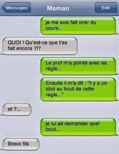 Surtout ne dites jamais ça a vos profs ! Funny Sms, Funny Messages, Funny Texts, Funny Jokes, Lol, Funny Images, Funny Photos, Friendzone, French Quotes