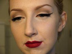 Retro makeup.