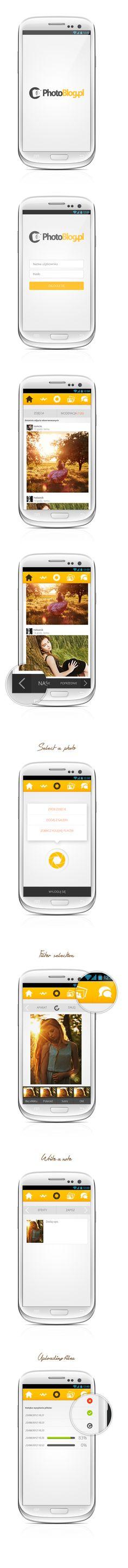 Photoblog.pl - Android mobile application by Bartek Bielawa