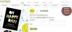 Minted Giveaway with Sunny Soirees! You could win a $100 credit from Minted.com! #giveaway