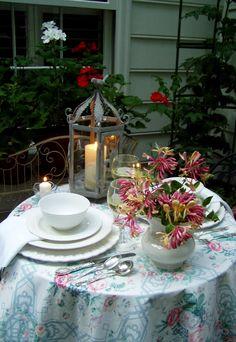 Lantern for garden table setting