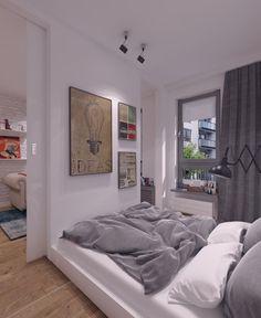 Mała sypialnia w mieszkaniu stanowi nie lada wyzwanie dla osób urządzających wnętrza. W tym projekcie zastosowano szereg ciekawych rozwiązań aranżacyjnych.