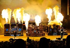 Super rock group Rush's 2011 Steampunk stage dressing!