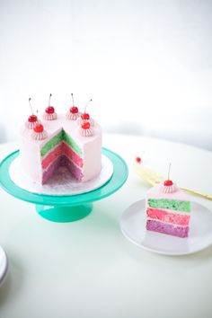 pink cherry cake cuteness - coco cake land