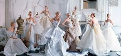 1948 photograph of models wearing PASTEL-COLOURED satin gowns by Charles James now serves as the inspiration for TIM WALKER's portrait