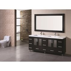 @Overstock - Color: Espresso Type: Double sink bathroom vanity with under mount sink Materials: Solid oak wood http://www.overstock.com/Home-Garden/Design-Element-Stanton-72-inch-Double-sink-Bathroom-Vanity/6220280/product.html?CID=214117 $1,890.59