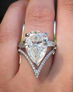 Pears  are great for your health  Double tap to share your love for the Pear  #diamondring #diamonds #engagementrings #trophywife
