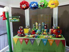 Fiesta Barrio Sesamo con Mucho Color y Diversión