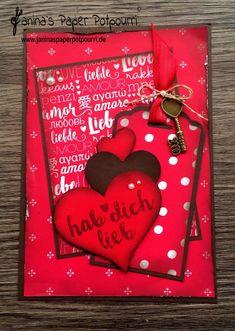 jpp - Designerpapier Karte  /card DSP / Valentine's / Valentinstag / Liebe/ sneak peek / OnStage 2016 / Schauwand Designer / Display Stamper / Stampin' Up! Berlin / Liebe Grüße / Love Suite / www.janinaspaperpotpourri.de