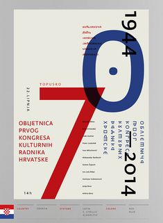 29 Amazing Use Of Swiss Style in Poster Design – Bashooka - Anniversary CCCW - Typography Poster Design, Typographic Poster, Graphic Design Posters, Number Typography, Book Cover Design, Book Design, Design Web, Type Design, International Typographic Style