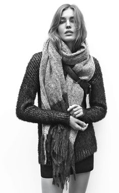 Jumper, skirt and big scarf