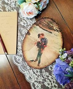 Photo Tree Slice Personalized with Your Picture Printed on Wood Slab - Rustic Wedding, New Baby, Birthday, Housewarming, Anniversary Gift Tree Slices, Photo Tree, Sentimental Gifts, Wood Slab, Cute Gifts, Mom Gifts, Print Pictures, Custom Photo, Wood Print