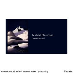 Mountains And Hills of Snow in Austria in Winter Business Card
