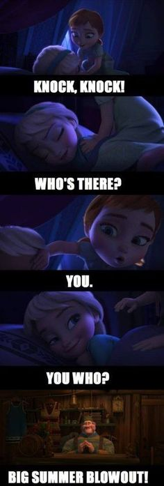 I LOVE punny jokes AND Frozen!  Now they are together in cute, funny glory!
