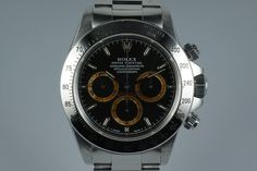 1993 Rolex SS Zenith Daytona 16520 Black Patrizzi Dial