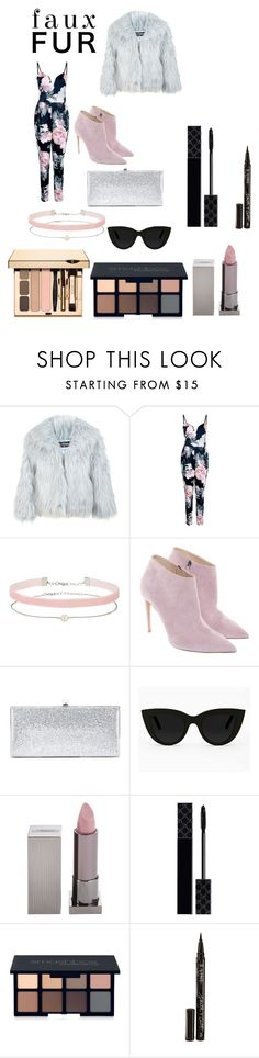"""Faux Fur"" by chanc3 ❤ liked on Polyvore featuring Miss Selfridge, Boohoo, Ralph Lauren, Jimmy Choo, Quay, Lipstick Queen, Gucci, Smashbox and Smith & Cult"