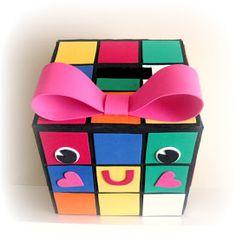 Peppermint Plum: {RUBIE - My Rubiks Cube Valentine Box}