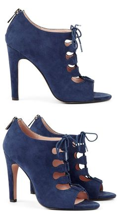 Blue Lace-Up Heels ♡